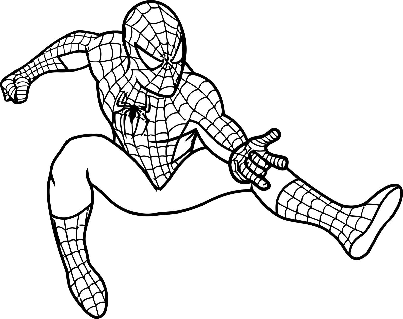 Spiderman Coloring Pages Only Coloring Pages