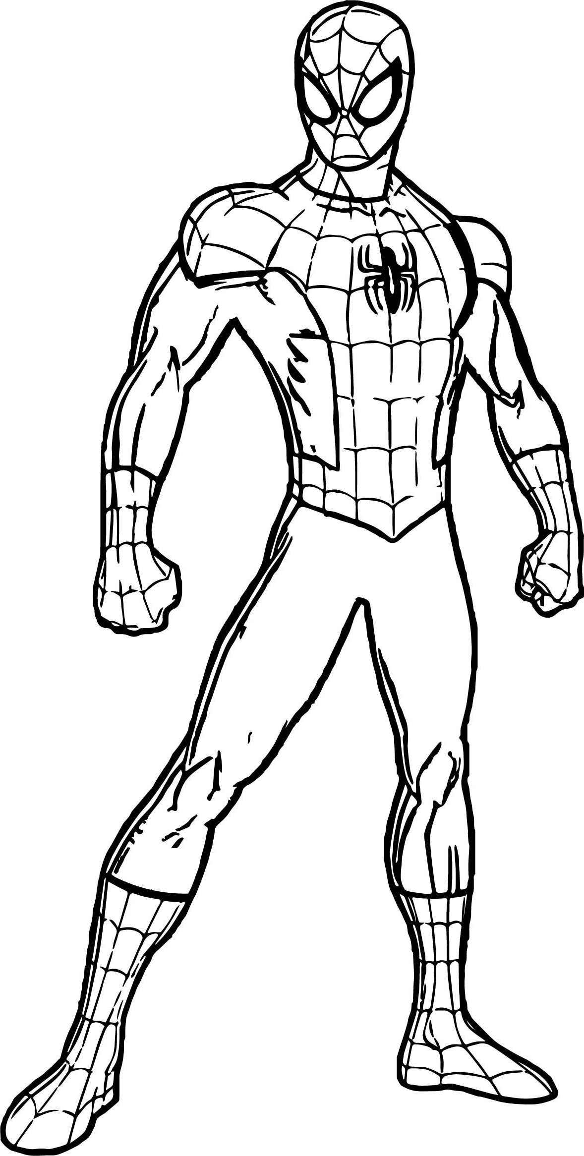 spiderman suit coloring page
