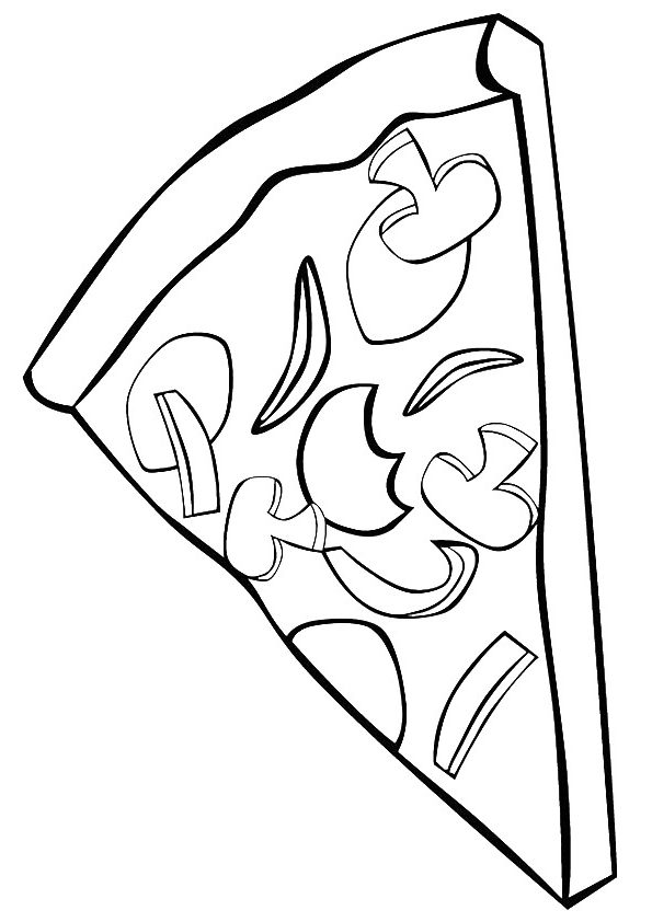 Top 15 Pizza Coloring Pages