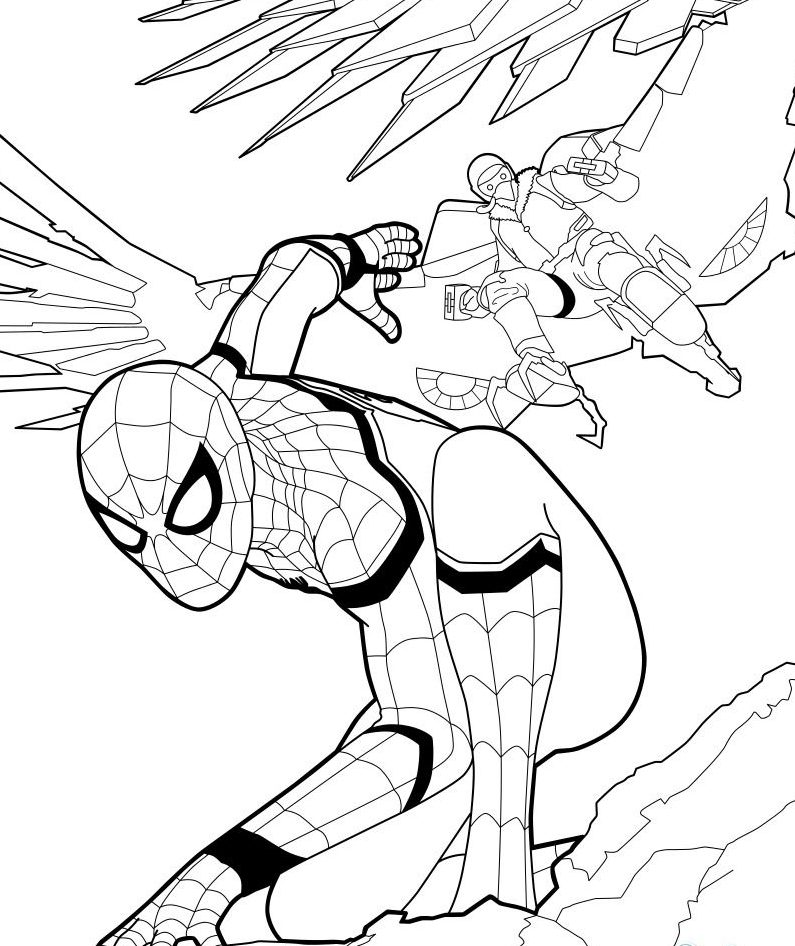 New Spiderman Coloring Page 2019 | Free coloring pages ...
