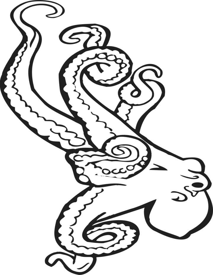 free Free Printable Octopus Coloring Pages For Kids easy