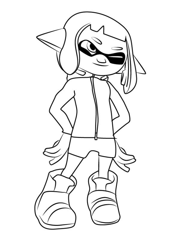 Printable Splatoon Coloring Pages Best Coloring Pages