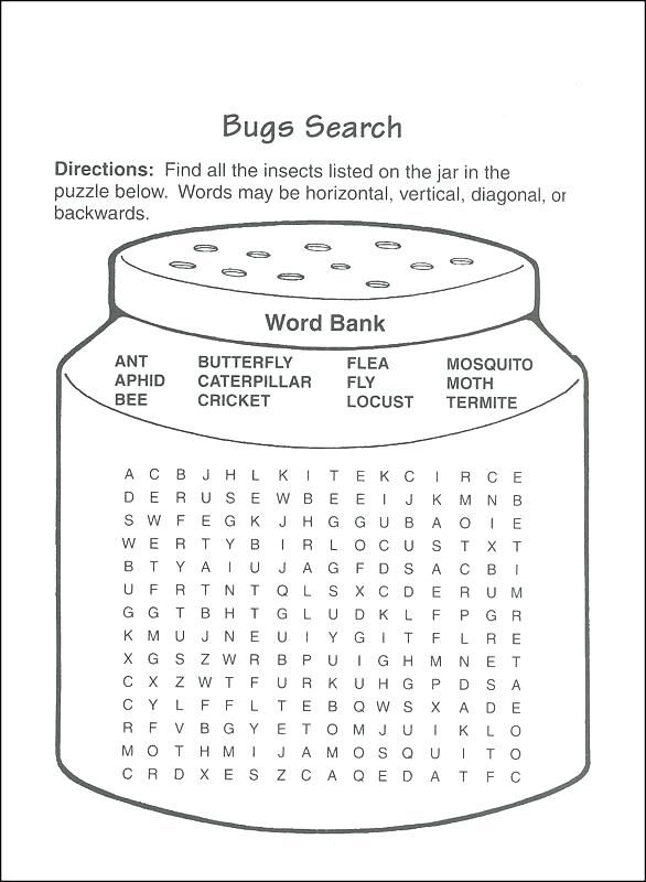 for teens Third Grade Word Search - Best Coloring Pages For Kids simple