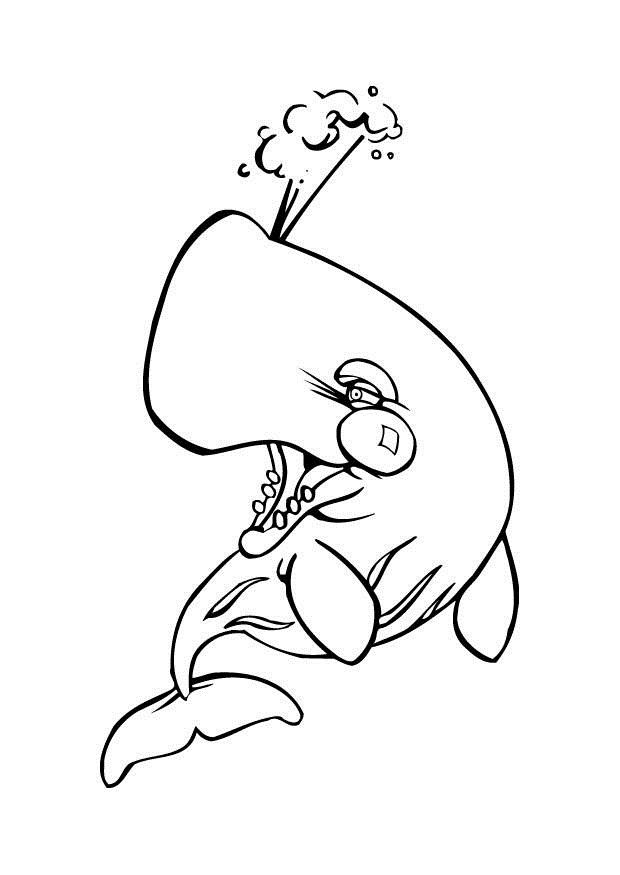 for adults Free Printable Whale Coloring Pages For Kids simple