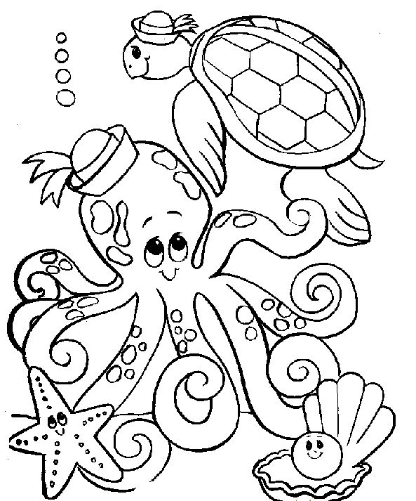 easy Free Printable Octopus Coloring Pages For Kids to print out