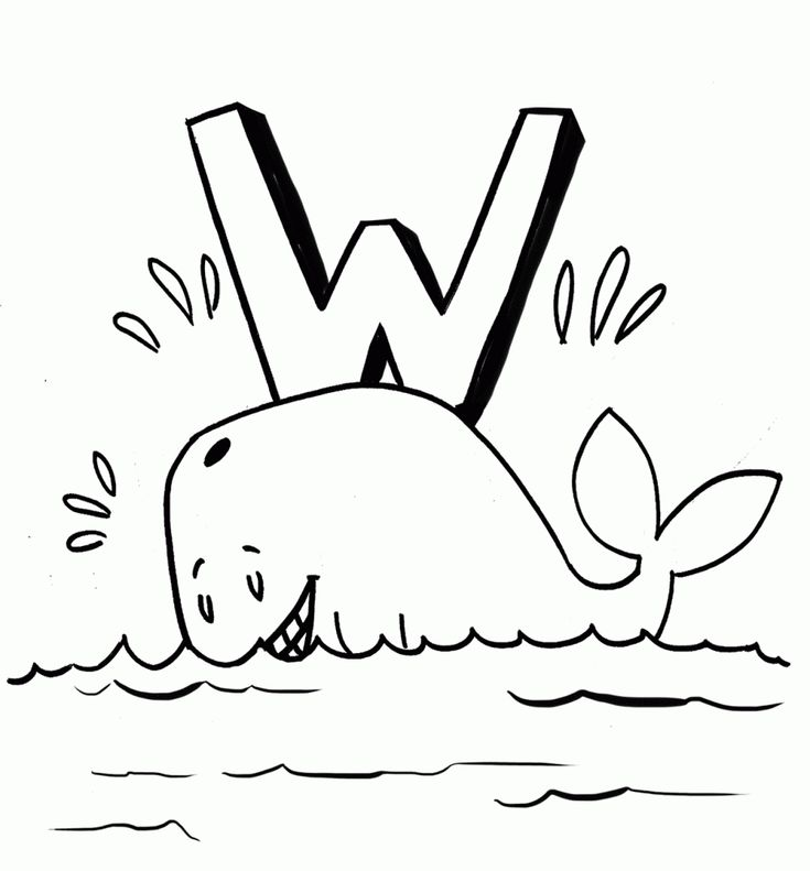 preschool Free Printable Whale Coloring Pages For Kids online