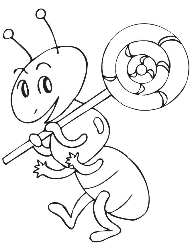already colored Lollipop Coloring Pages - Best Coloring Pages For Kids for sunday school