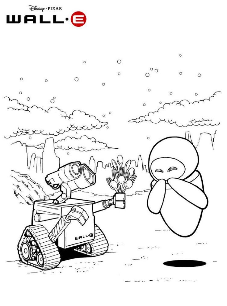 for kindergarten WALL-E Coloring Pages - Best Coloring Pages For Kids preschool