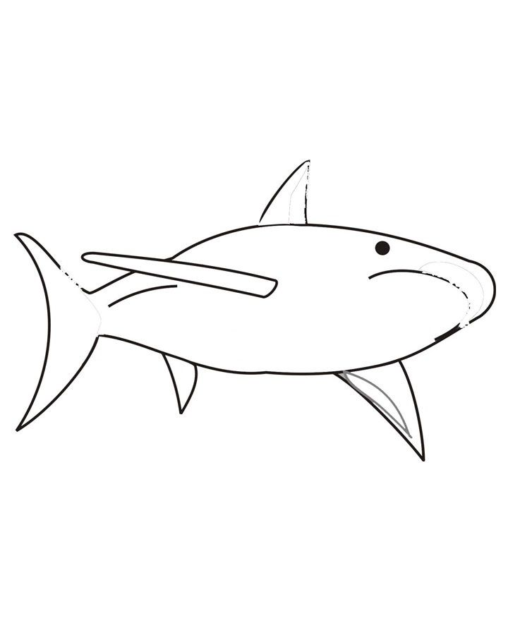 for toddlers Free Printable Shark Coloring Pages For Kids easy