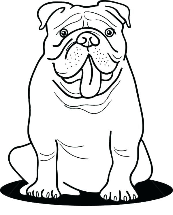 for teens Bulldog Coloring Pages - Best Coloring Pages For Kids simple
