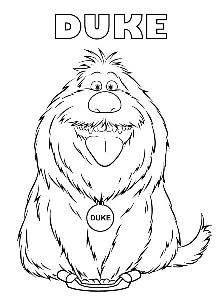 to print out The Secret Life of Pets Coloring Pages - Best Coloring Pages... free printable