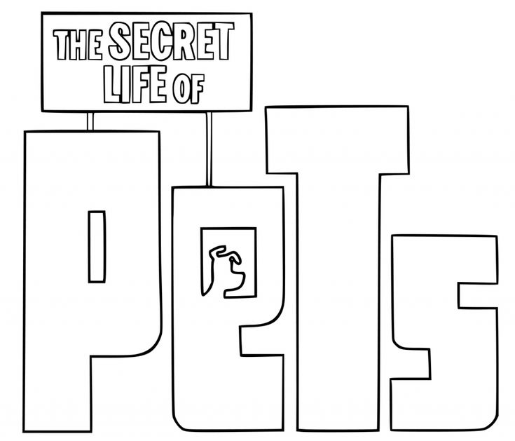 simple The Secret Life of Pets Coloring Pages - Best Coloring Pages... simple