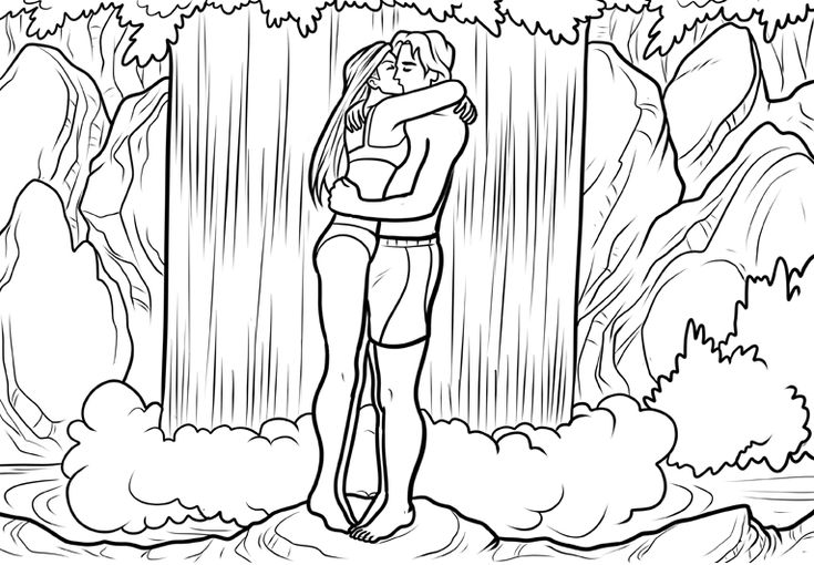 For Teens Waterfall Coloring Pages Best Coloring Pages