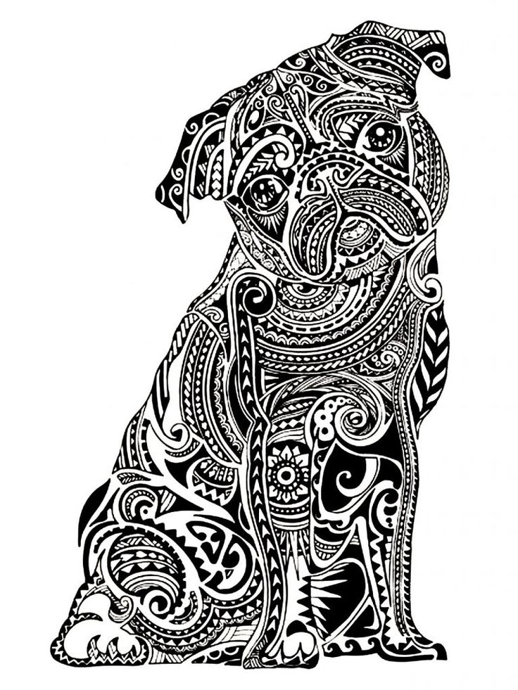 free printable Dog Coloring Pages for Adults - Best Coloring Pages For Kids for toddlers