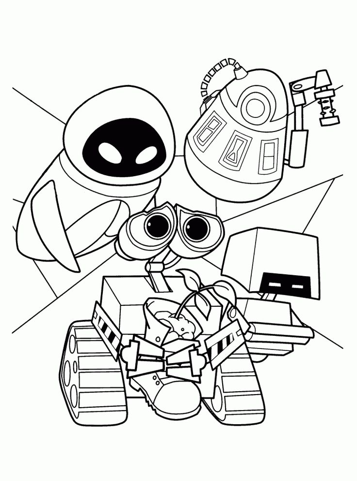 easy WALL-E Coloring Pages - Best Coloring Pages For Kids for boys