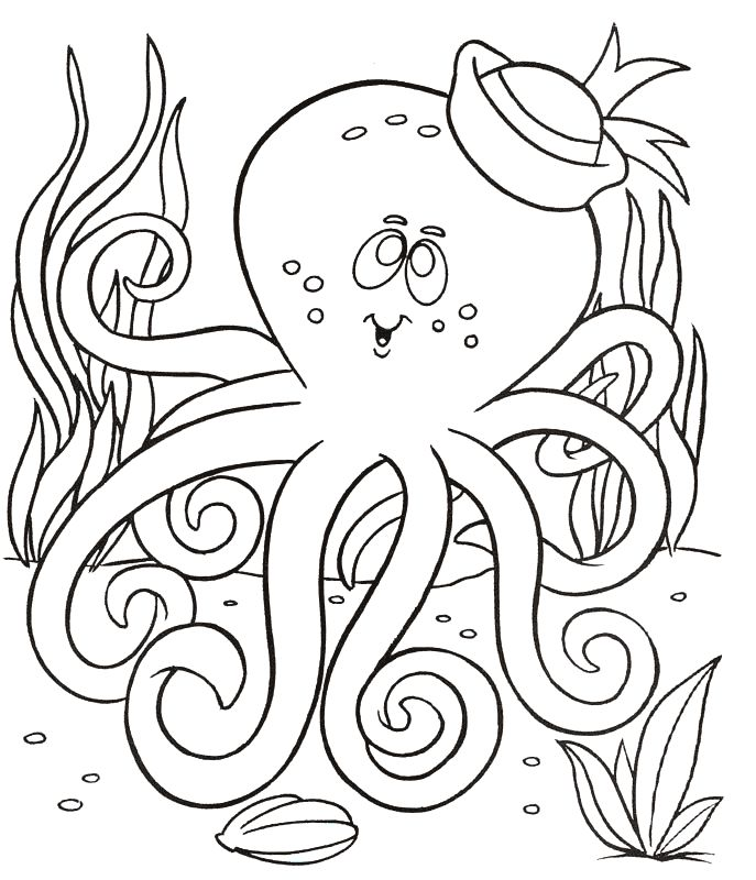 for adults Free Printable Octopus Coloring Pages For Kids for kids