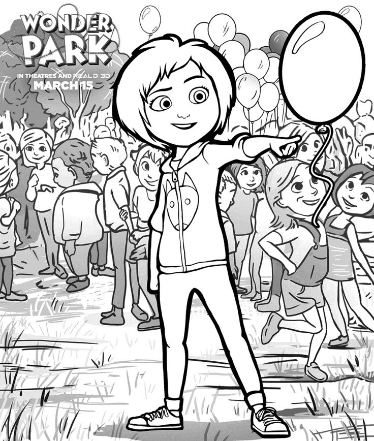 simple Wonder Park Coloring Pages - Best Coloring Pages For Kids for adults