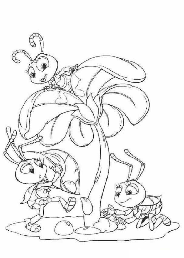 for sunday school Free Printable Bug Coloring Pages For Kids easy