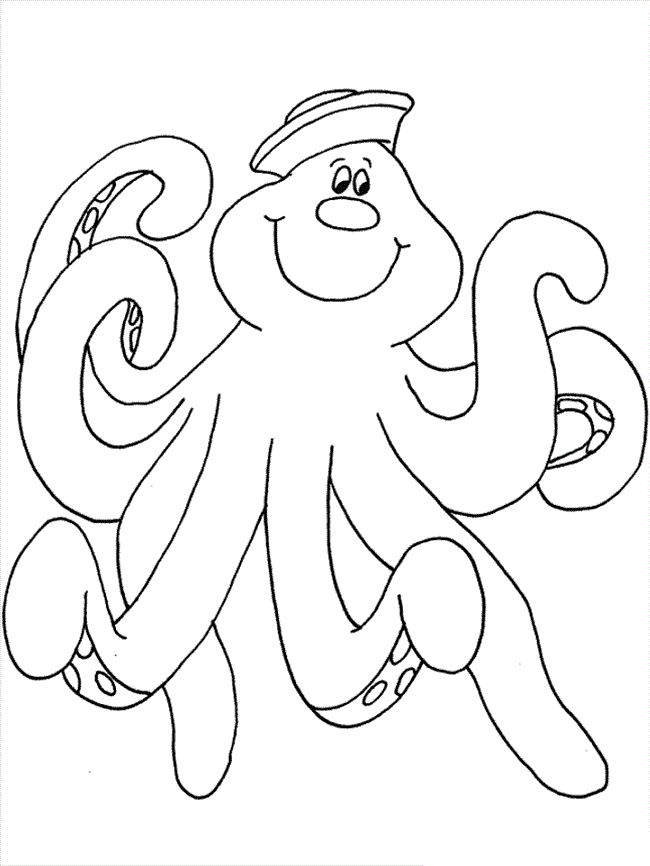 preschool Free Printable Octopus Coloring Pages For Kids for kindergarten