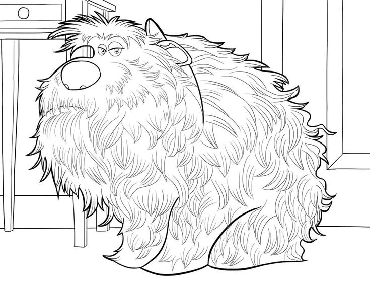 online The Secret Life of Pets Coloring Pages - Best Coloring Pages... simple
