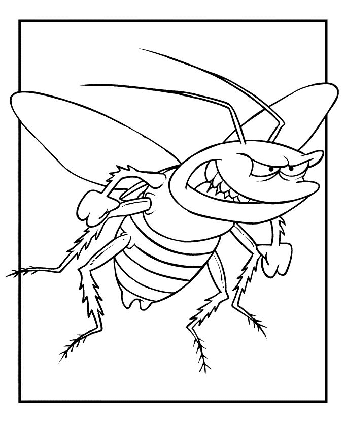 simple Free Printable Bug Coloring Pages For Kids online
