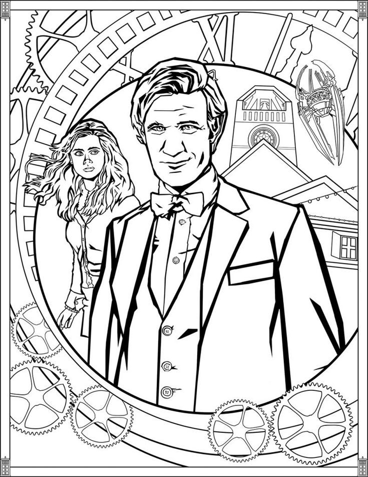 free Doctor Who Coloring Pages - Best Coloring Pages For Kids for toddlers