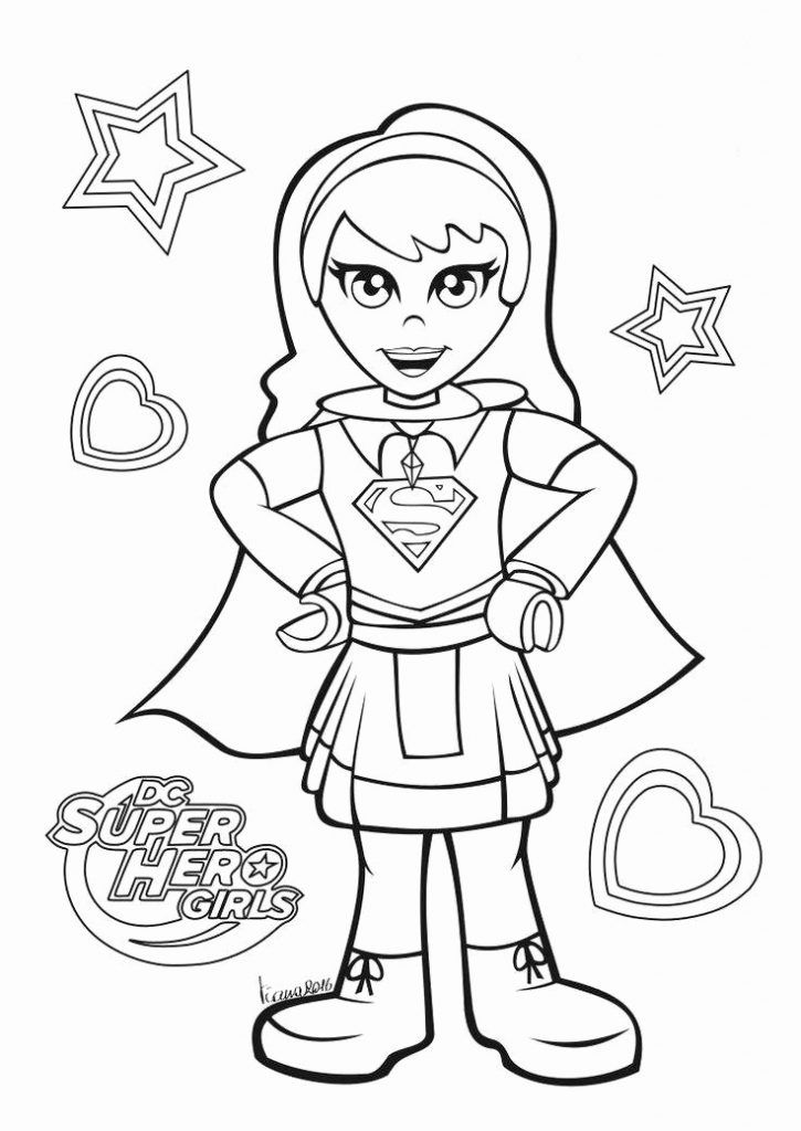 simple DC Superhero Girls Coloring Pages - Best Coloring Pages For ... for girls