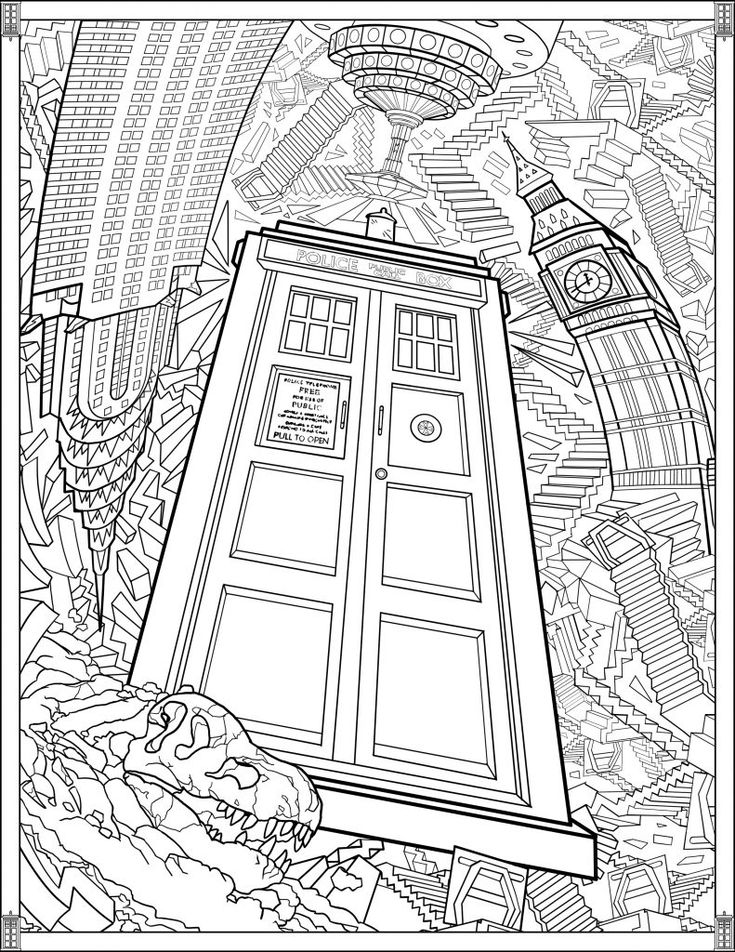 simple Doctor Who Coloring Pages - Best Coloring Pages For Kids for toddlers