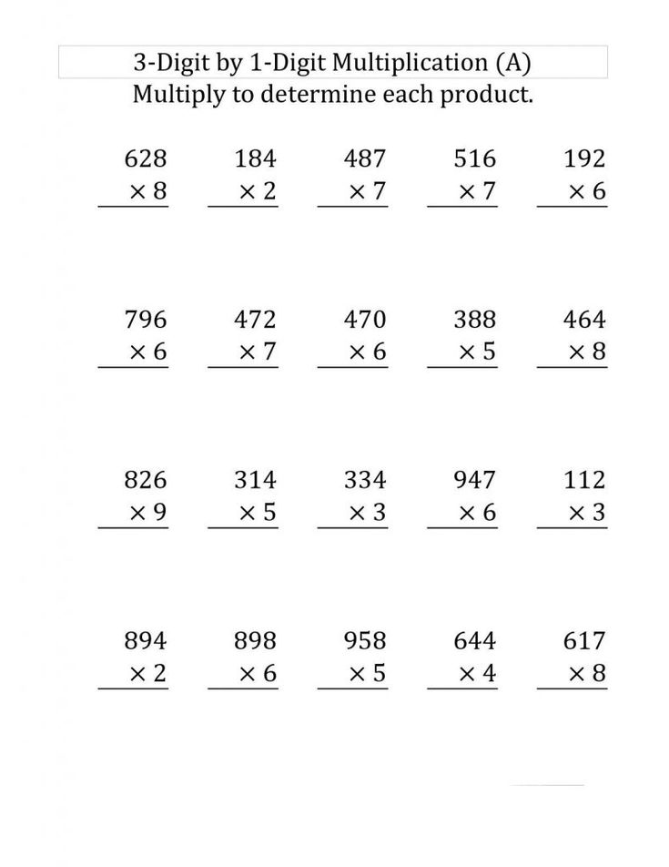 simple 4th Grade Multiplication Worksheets - Best Coloring Pages Fo... for kindergarten