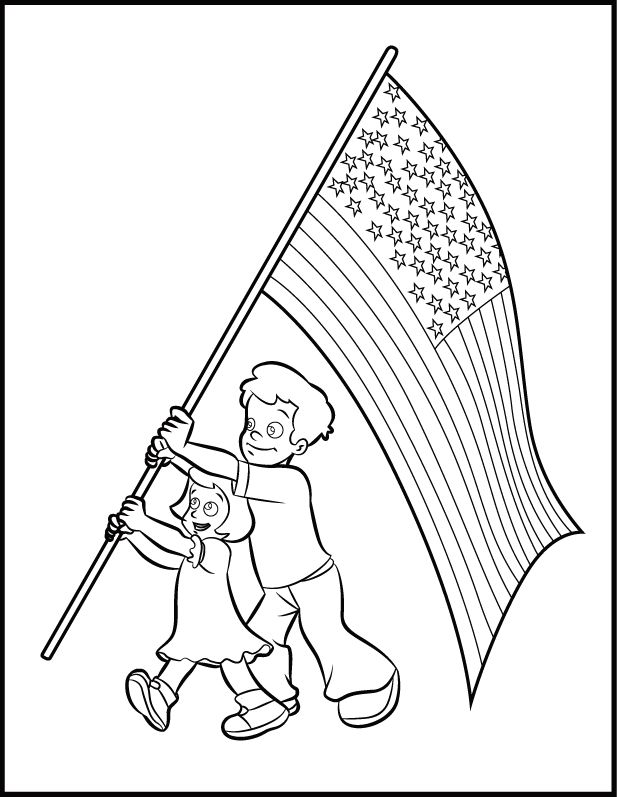 for boys Flag Day Coloring Pages - Best Coloring Pages For Kids online