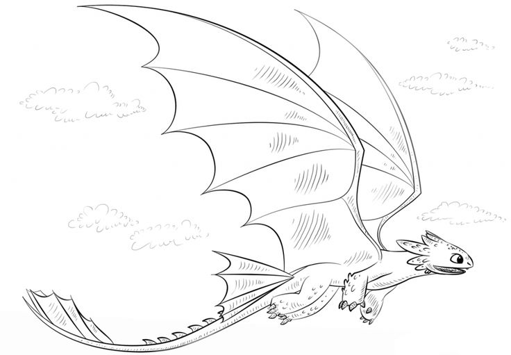 free printable Toothless Coloring Pages - Best Coloring Pages For Kids for sunday school