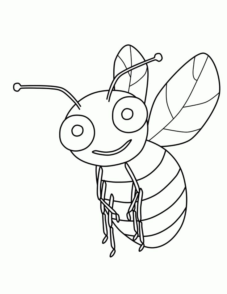 preschool Free Printable Bumble Bee Coloring Pages For Kids for toddlers