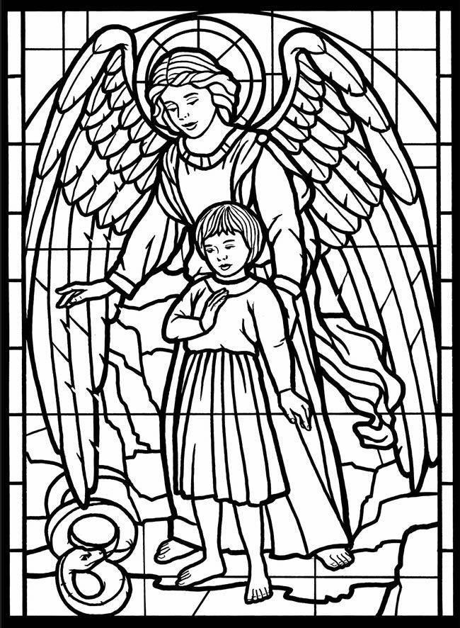 online Stained Glass Coloring Pages for Adults - Best Coloring Page... for toddlers