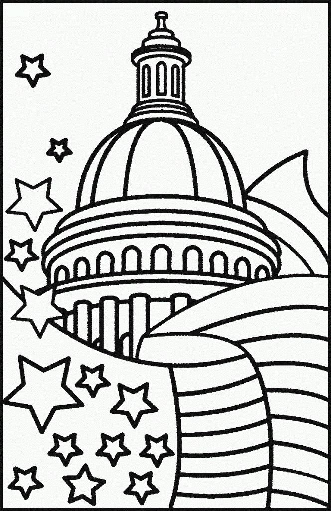 for sunday school Flag Day Coloring Pages - Best Coloring Pages For Kids online