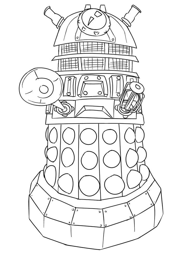 printable Doctor Who Coloring Pages - Best Coloring Pages For Kids for kids