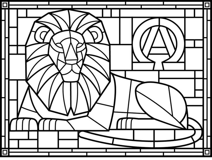 Free Stained Glass Coloring Pages For Adults Best Coloring