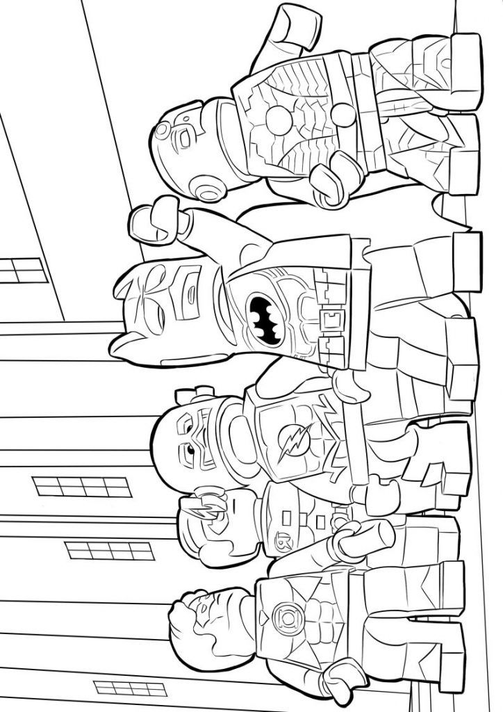 already colored Lego Superhero Coloring Pages - Best Coloring Pages For Kids for toddlers