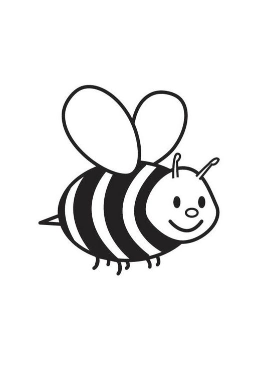 for toddlers Free Printable Bumble Bee Coloring Pages For Kids free printable