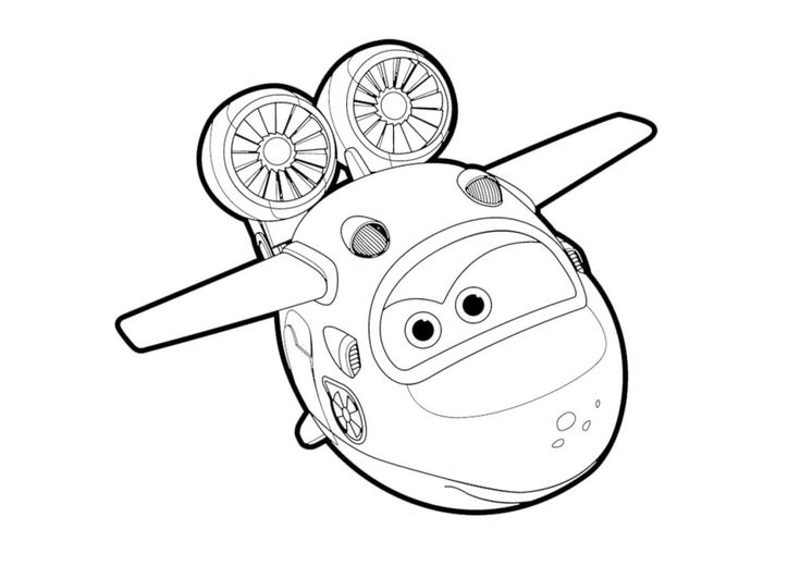 pdf Let's get robot ready with Super Wings Coloring Pages. Lea... free
