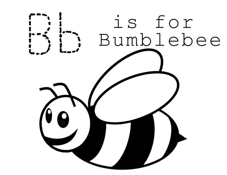 online Free Printable Bumble Bee Coloring Pages For Kids for kindergarten