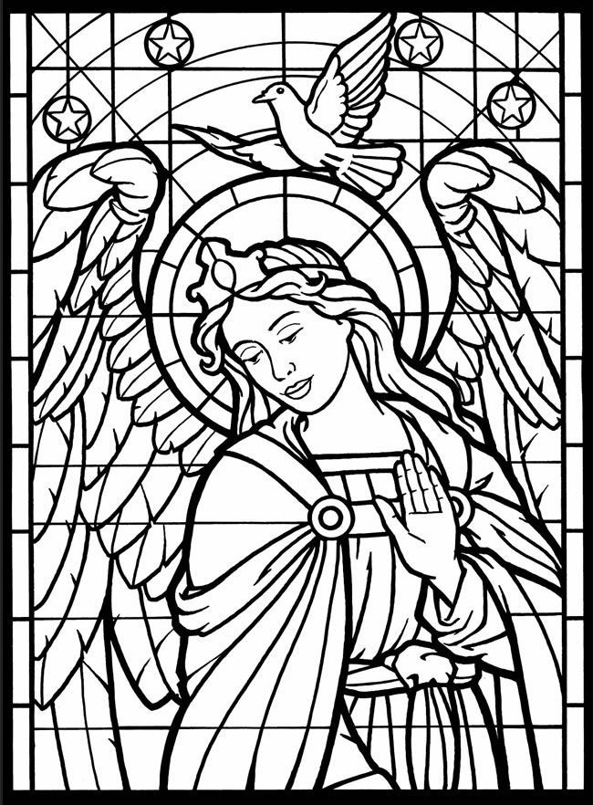 online Stained Glass Coloring Pages for Adults - Best Coloring Page... toddler