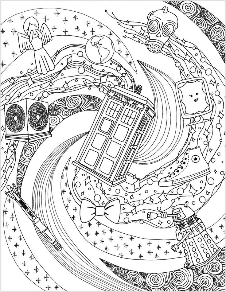 for kindergarten Doctor Who Coloring Pages - Best Coloring Pages For Kids for sunday school