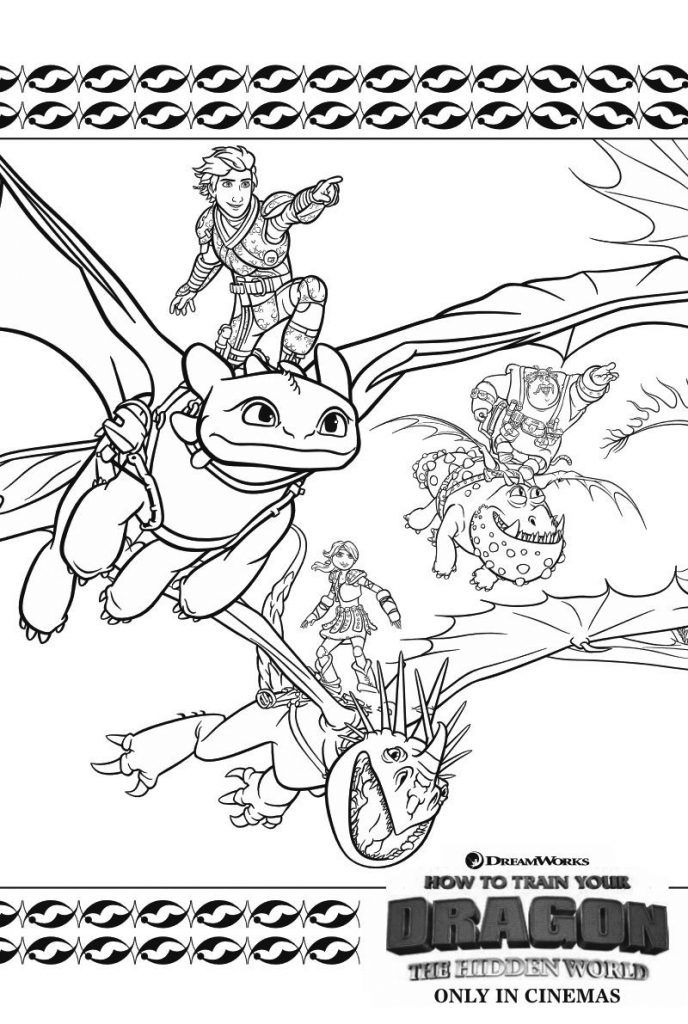 simple How to Train Your Dragon Coloring Pages - Best ...