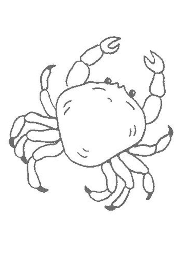 printable Free Printable Crab Coloring Pages For Kids for kids