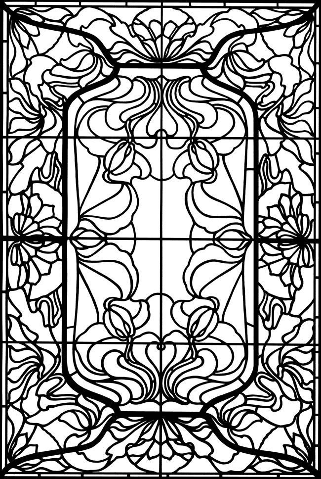 for boys Stained Glass Coloring Pages for Adults - Best Coloring Page... for girls