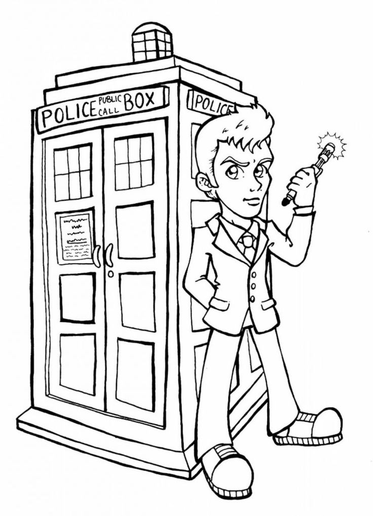 Easy Doctor Who Coloring Pages Best Coloring Pages For