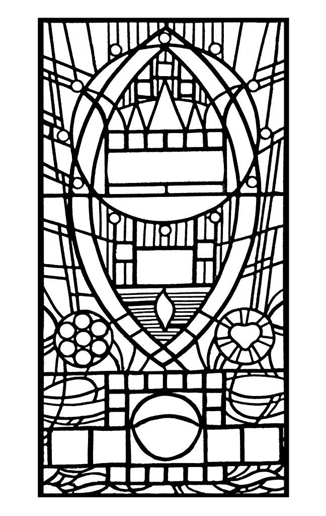 for adults Stained Glass Coloring Pages for Adults - Best Coloring Page... for girls