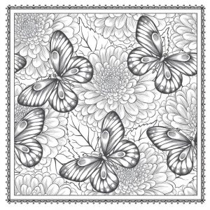 for boys Floral Coloring Pages for Adults - Best Coloring Pages For K... for teens