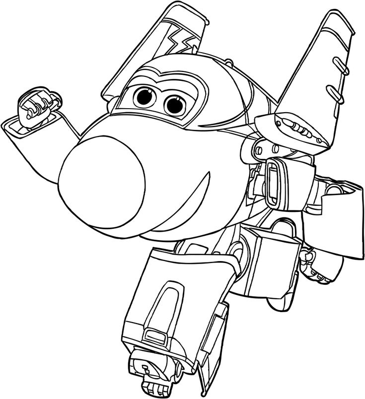 already colored Super Wings Coloring Pages - Best Coloring Pages For Kids for boys