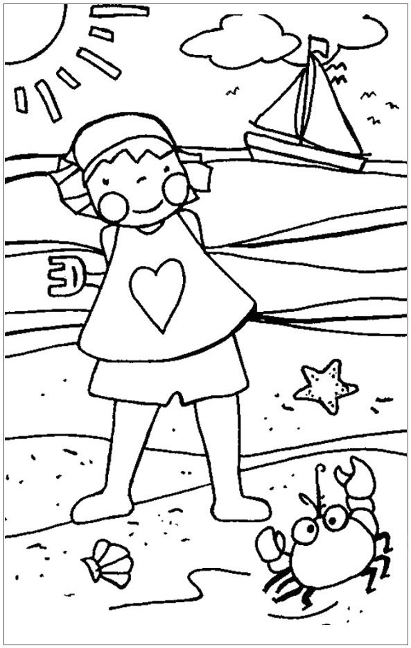 free printable Summer Coloring Pages for Kids. Print them All for Free. for boys